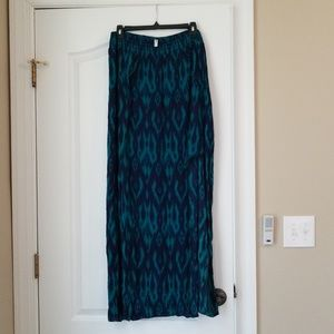 Navy and teal maxi with side slits